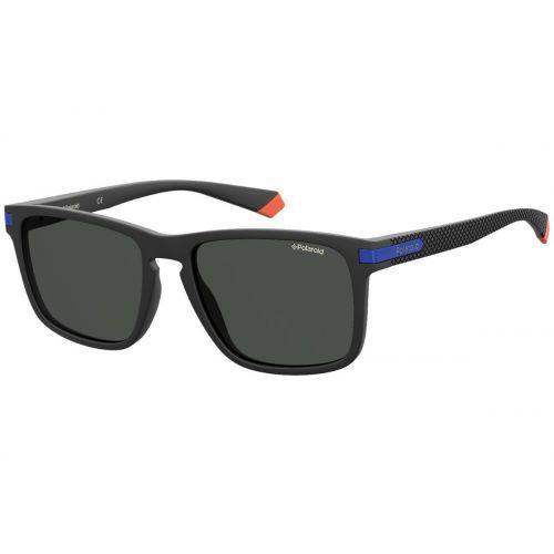 Ochelari de soare Polaroid Barbat Patrati PLD 2088/S 0VK M9 MATTE BLACK BLUE