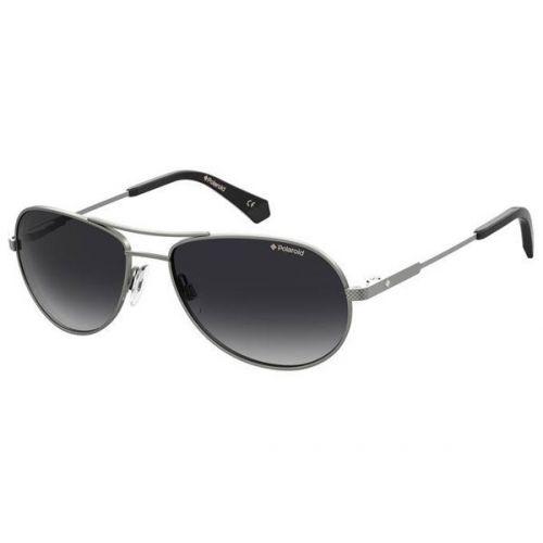 Ochelari de soare Polaroid Barbat Aviator PLD 2100/S/X R80  WJ DARK RUTHENIUM