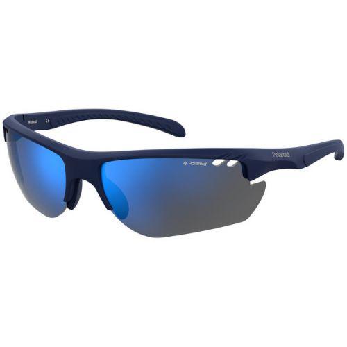 Ochelari de soare Polaroid Barbat Dreptunghiulari PLD 7026/S IPQ 5X MTBL BLUE 72 SPORT