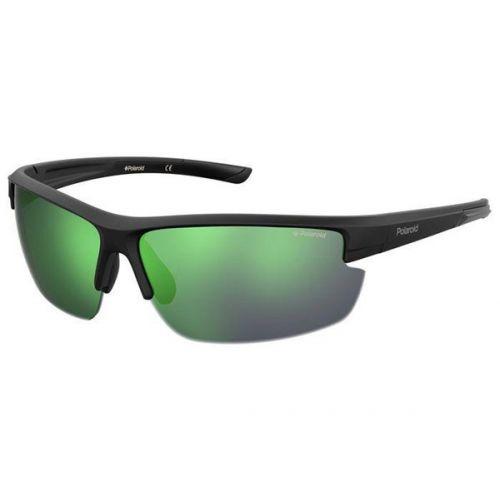 Ochelari de soare Polaroid Barbat Dreptunghiulari PLD 7027/S 3OL 5Z BLACK GREEN 72 SPORT