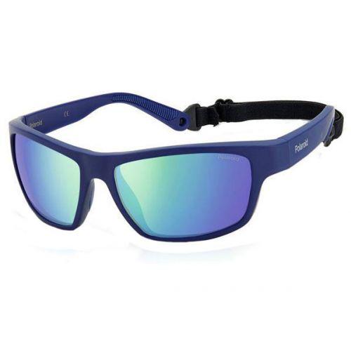 Ochelari de soare Polaroid Barbat Dreptunghiulari PLD 7037/S PJP 5Z BLUE 60 SPORT
