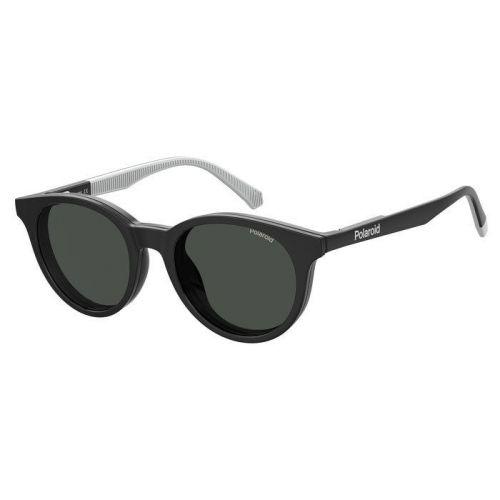 Ochelari de soare Polaroid Copii Rotunzi PLD 8044/CS 807 M9 BLACK  45 CLIP ON