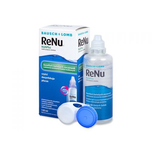Soultie pentru lentile de contact ReNu MultiPlus 120 ml + suport lentile de contact inclus